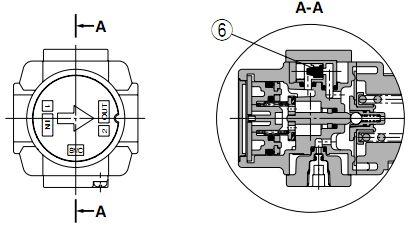 企业中心 技术动态 正文  下图是smc ark带单向阀减压阀气动符号图.图片
