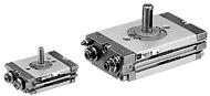 SMC超薄型齿轮齿条式摆动气缸 CRQ2
