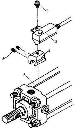 SMC气缸磁性开关安装方式-拉杆安装